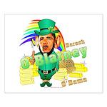Barack O'Blarney anti-Obama Small Poster