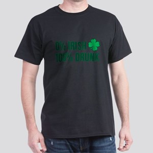 0% Irish 100% Drunk T-Shirt