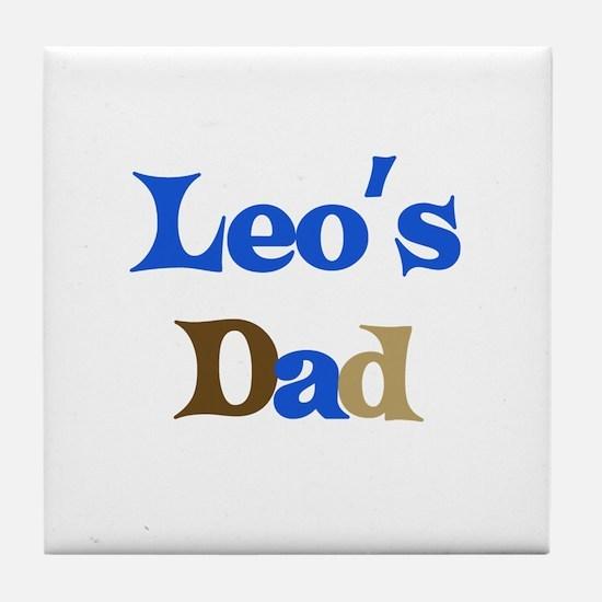 Leo's Dad Tile Coaster
