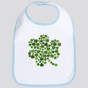 Irish Shamrocks in a Shamrock Bib
