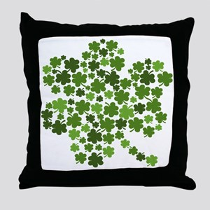 Irish Shamrocks in a Shamrock Throw Pillow