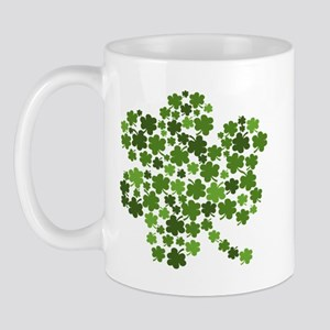 Irish Shamrocks in a Shamrock Mug