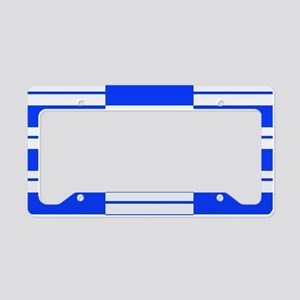 White and Blue Weave License Plate Holder