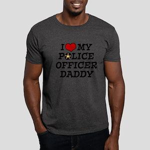 I Love My Police Officer Daddy Dark T-Shirt