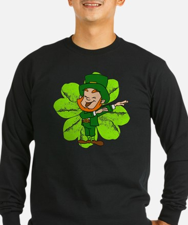 Dabbing Leprechaun St Patricks Long Sleeve T-Shirt
