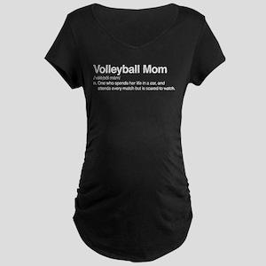 Volleyball Mom Maternity Dark T-Shirt