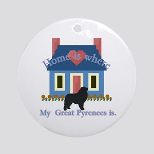 Home Is Great Pyrenees Ornament (Round)