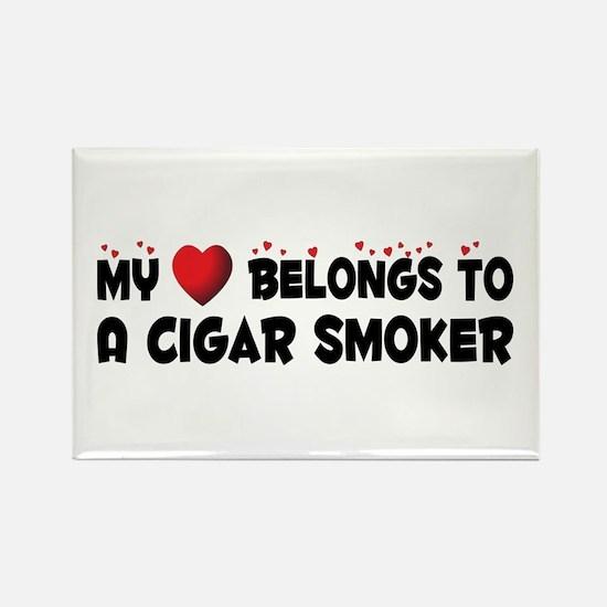 Belongs To A Cigar Smoker Rectangle Magnet