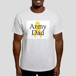 Army Dad Ribbon Ash Grey T-Shirt