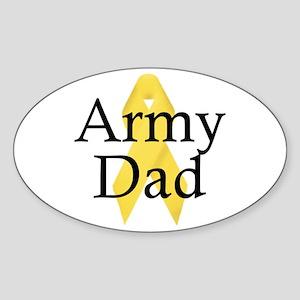 Army Dad Ribbon Oval Sticker