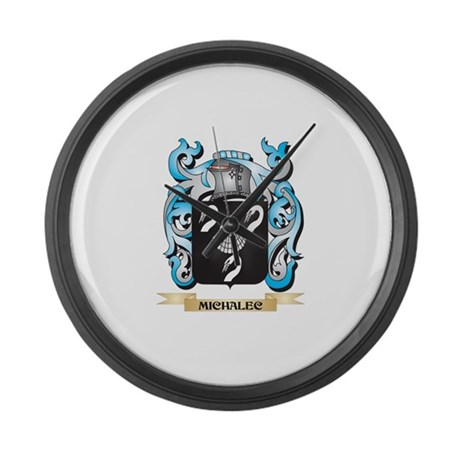 Michalec Coat of Arms - Family Cr Large Wall Clock