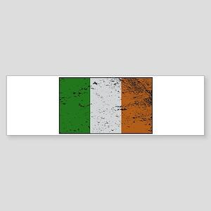 Ireland Flag Grunged Bumper Sticker