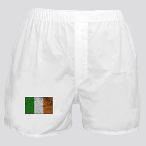 Ireland Flag Grunged Boxer Shorts
