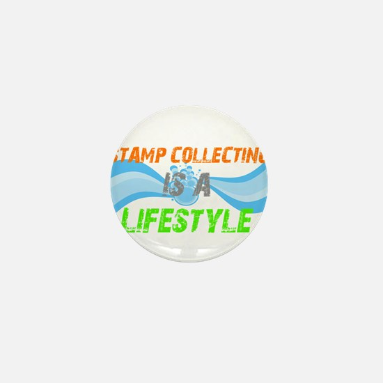 Stamp collecting is a lifesty Mini Button