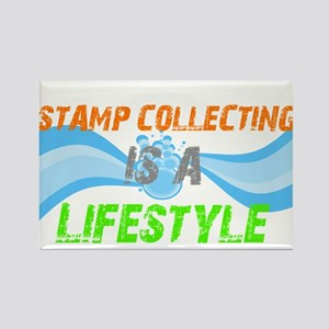 Stamp collecting is a lifesty Rectangle Magnet