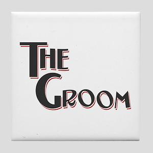 Fairground Deco Groom Tile Coaster