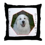 Great Pyrenees Throw Pillow, Pyr Mom