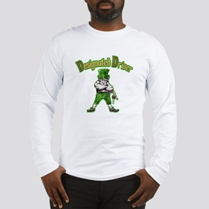 St Patrick's Day designated driver Long Sleeve T-S