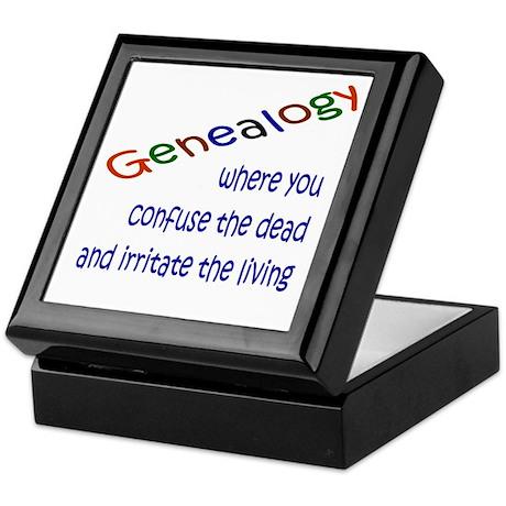 Genealogy Confusion (blue) Keepsake Box