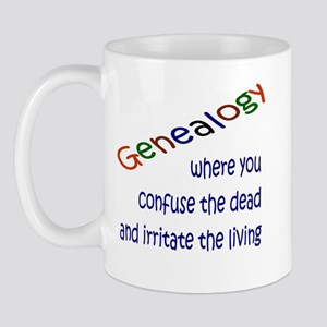 Genealogy Confusion (blue) Mug