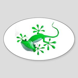 Gecko Oval Sticker