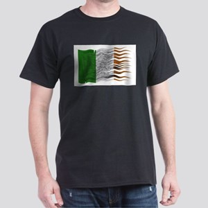 Wavy Ireland Flag Grunged T-Shirt