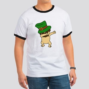 Dabbing St Patrick's Day Pug Dog Leprechau T-Shirt