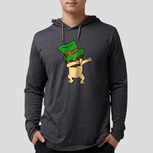 Dabbing St Patrick's Day Pug D Long Sleeve T-Shirt