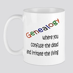 Genealogy Confusion (black) Mug