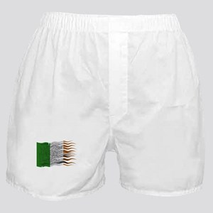 Wavy Ireland Flag Grunged Boxer Shorts