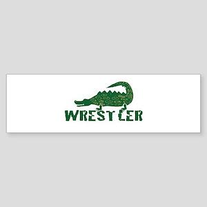 Alligator Wrestler Bumper Sticker