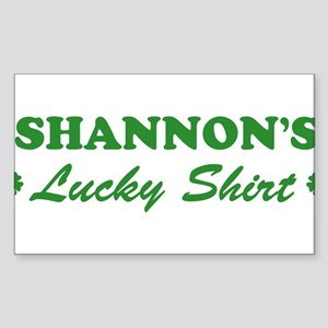 SHANNON - lucky shirt Rectangle Sticker