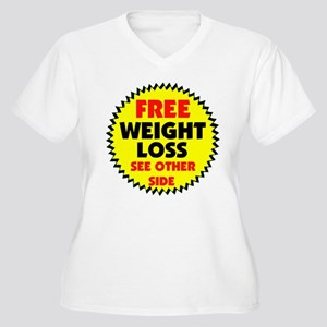 FREE DIET Women's Plus Size V-Neck T-Shirt
