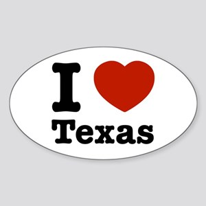 I love Texas Oval Sticker