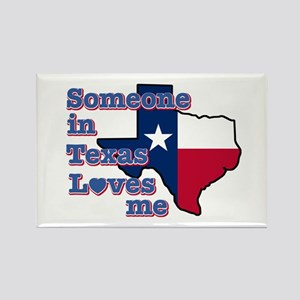 Someone in Texas loves me Rectangle Magnet (10 pac