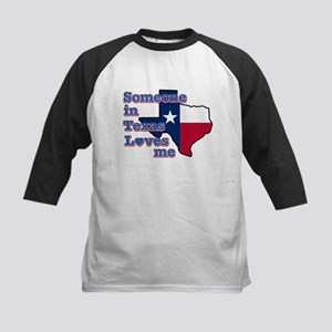 Someone in Texas loves me Kids Baseball Jersey