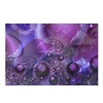 Purple Fractal Image Postcards (Package of 8)