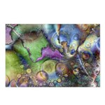 Purple Fractal Design Postcards (Package of 8)