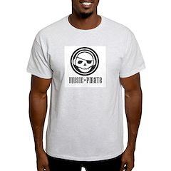 Music Pirate Ash Grey T-Shirt