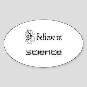 i believe in science Oval Sticker