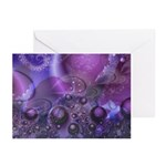 Purple Fractal Image Greeting Cards (6)