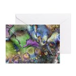 Purple Fractal Design Greeting Cards (6)