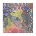 Pretty Pastels Fractal Image Tile Coaster