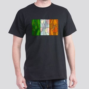 Ireland Flag Stained Glass Window T-Shirt