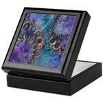 Purple Fractal Pattern Keepsake Box