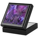 Purple Fractal Image Keepsake Box