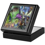 Purple Fractal Design Keepsake Box