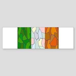 Ireland Flag Stained Glass Window Bumper Sticker