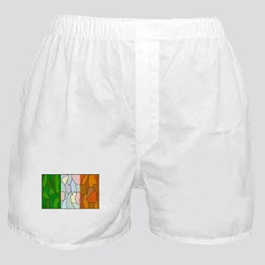 Ireland Flag Stained Glass Window Boxer Shorts