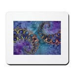 Purple Fractal Pattern Mousepad